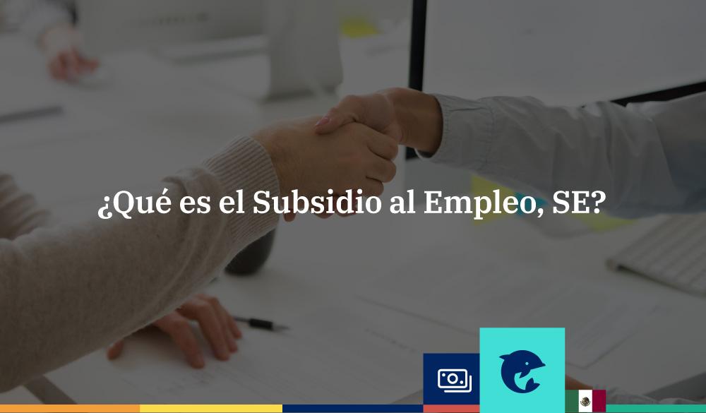 ¿Qué es el Subsidio para el Empleo, SE?